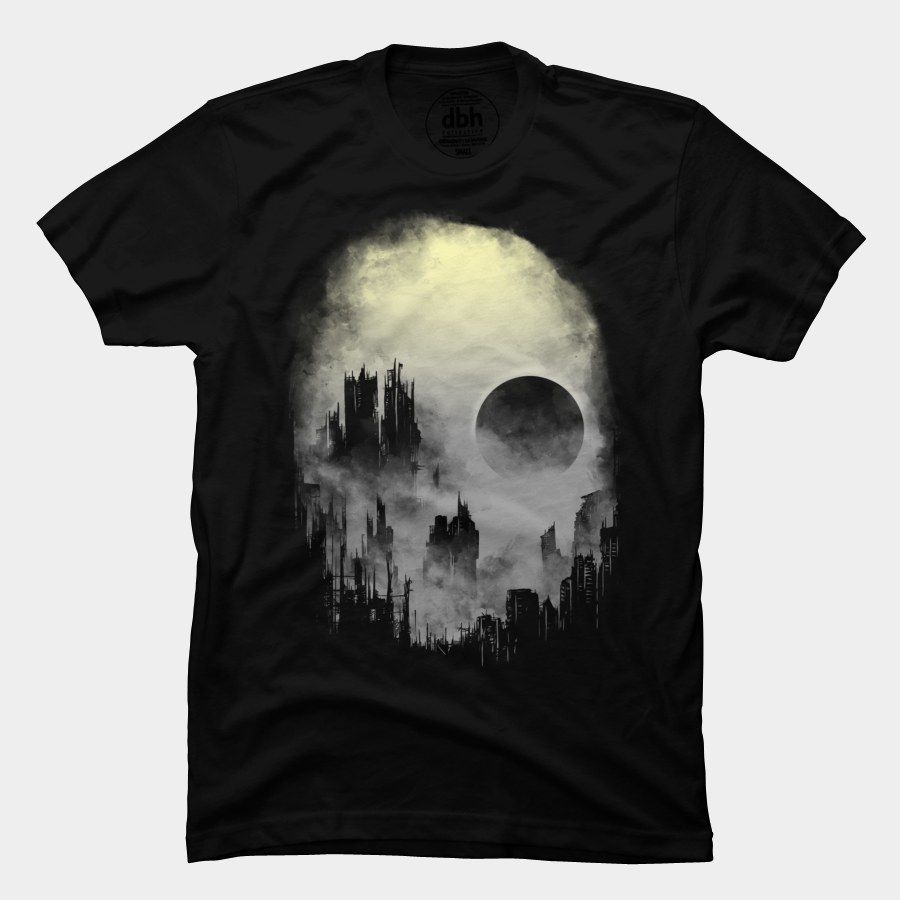 Abandoned City T Shirt By Fourscore Design By Humans
