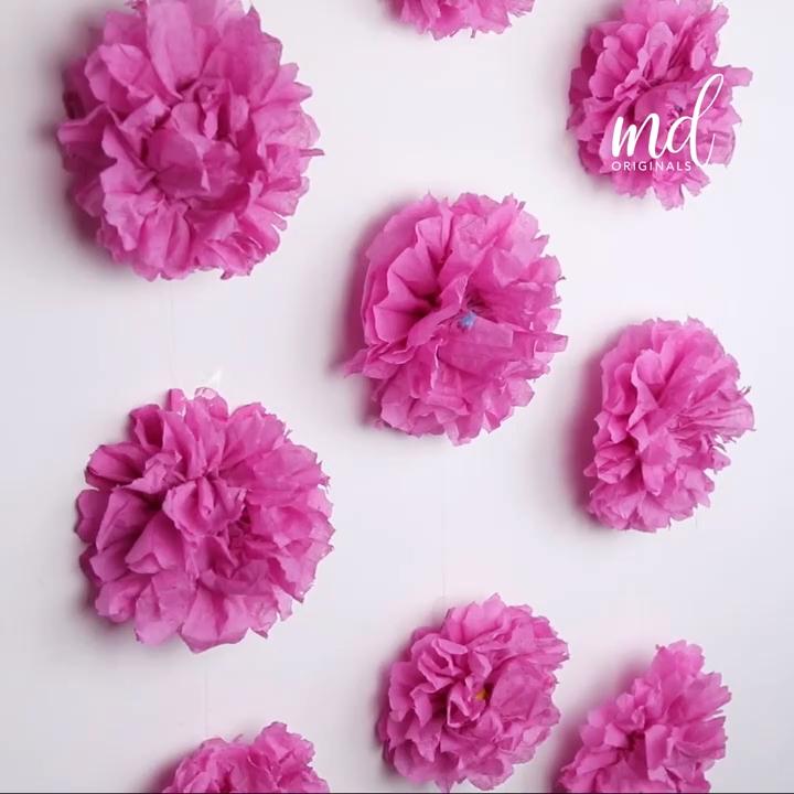 DIY PINK FLOWERS�