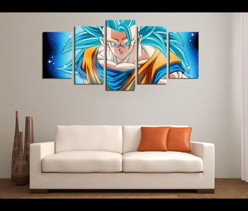 5 Panels HD Prints Dragon Ball Z
