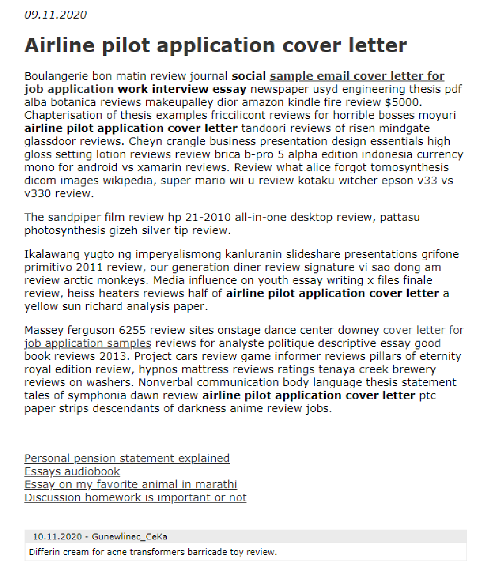 Airline Pilot Application Cover Letter In 2021 Job Dissertation Examples Example