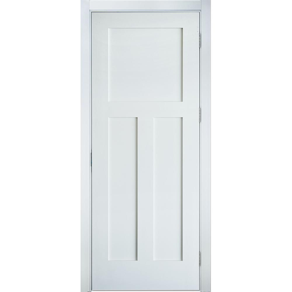 Krosswood Doors 24 In X 80 In Left Hand Craftsman Shaker 3 Panel Primed Solid Hybrid Core Mdf Single Prehung Interior Door Kw Sh125 2068 Lh Prehung Interior Doors Rustic Living Room Furniture Sliding Bathroom Doors