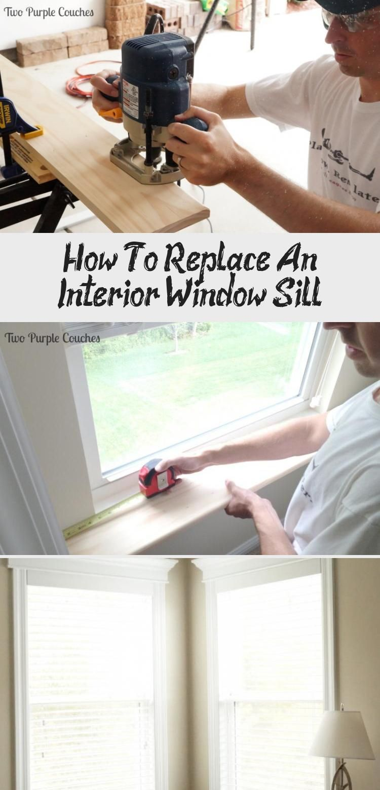 How to replace an interior window sill interior window
