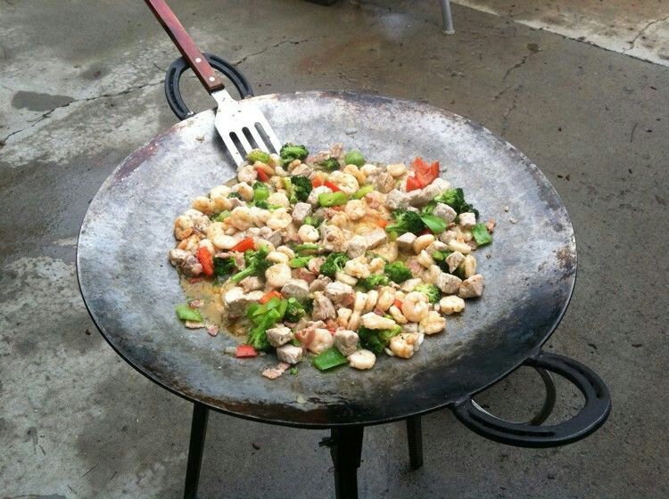 Plow disc wok great for camping | Cooking, Outdoor cooking, Wok ...