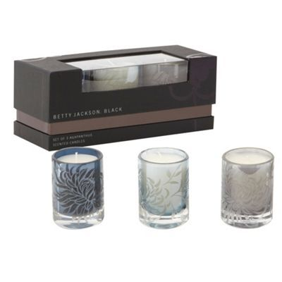 40be46c89d Betty Jackson.Black Set of three agapanthus scented candles- at  Debenhams.com