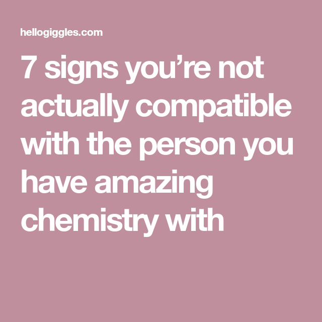 Signs of chemistry in a relationship
