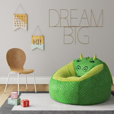 Super Character Bean Bag Chair Green Dragon Pillowfort Bean Creativecarmelina Interior Chair Design Creativecarmelinacom