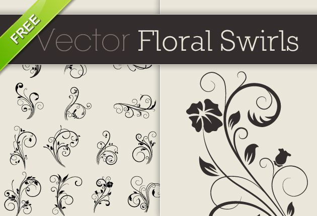 Designtnt free vector floral swirls small calligraphy pinterest free vector floral swirls free vector quality floral pattern free resource for designers stopboris Image collections