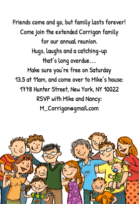 Family Lasts Forever Family Reunion Invitation Template