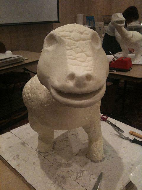 building a T-Rex cake
