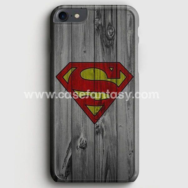 Super Man S Logo Wood Pattern iPhone 7 Case   casefantasy