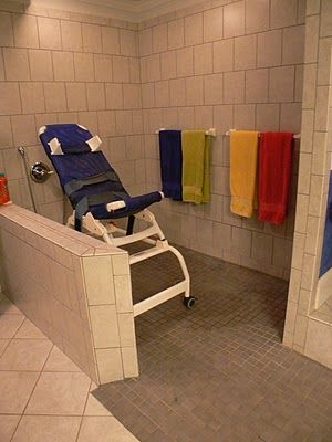 roll-in shower~ we have one, yet I like this one. | Accessible ...