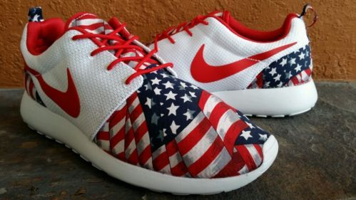 Nike Air  Shoes All Red American Flag