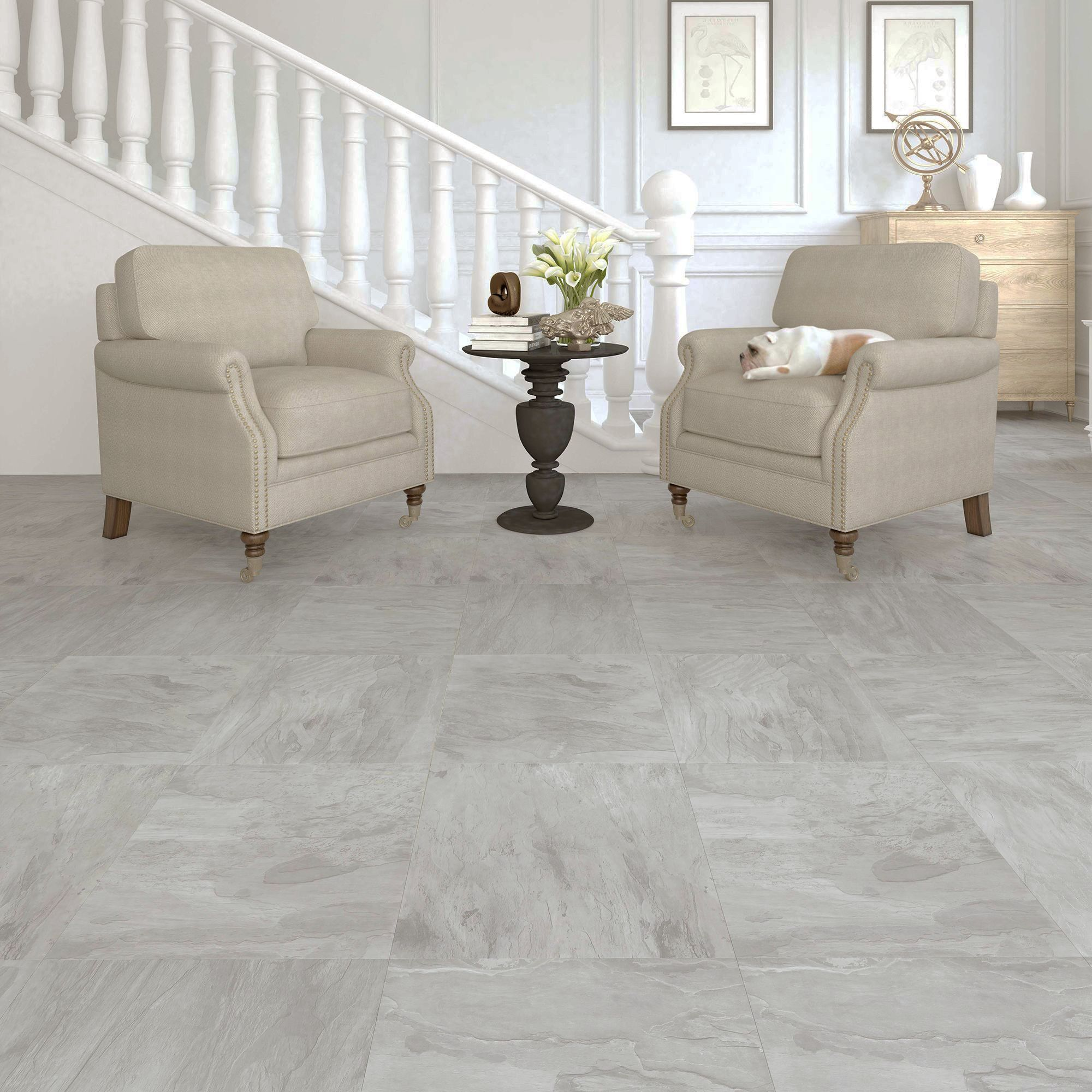 Leggiero Light Grey Slate Effect Laminate Flooring 1.86 m²