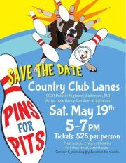 Amf Country Club Lanes 9020 Pulaski Hwy Middle River Md 21220 Help B More Dog He Dog Rescue Fundraising Animal Rescue Fundraising Animal Shelter Fundraiser