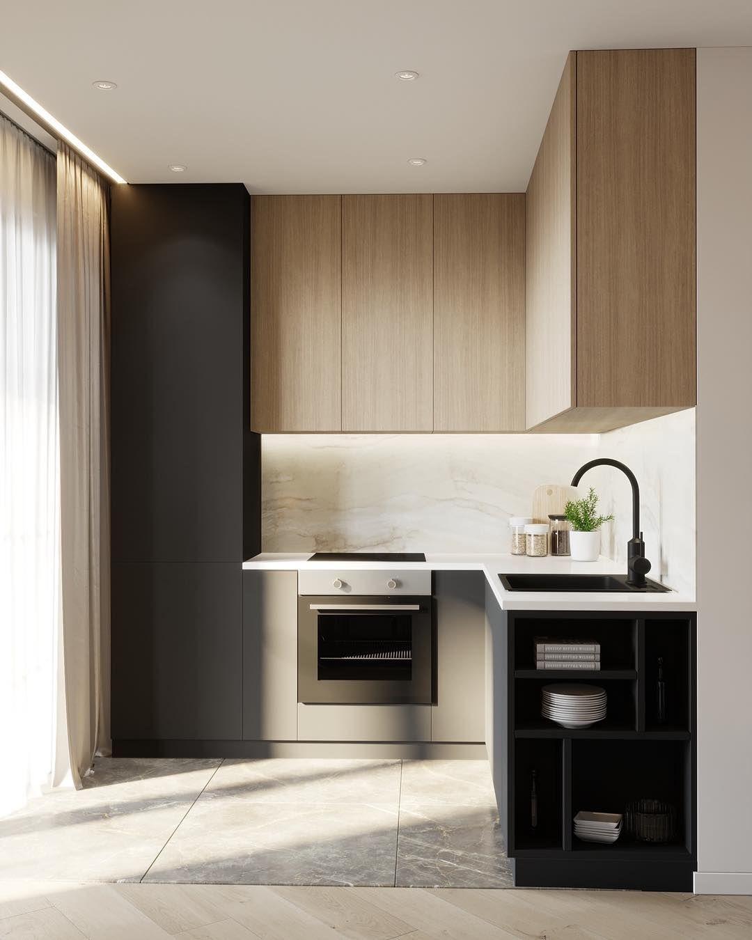Pin by pina colada interior design on kitchen for Muebles de madera para cocina pequena