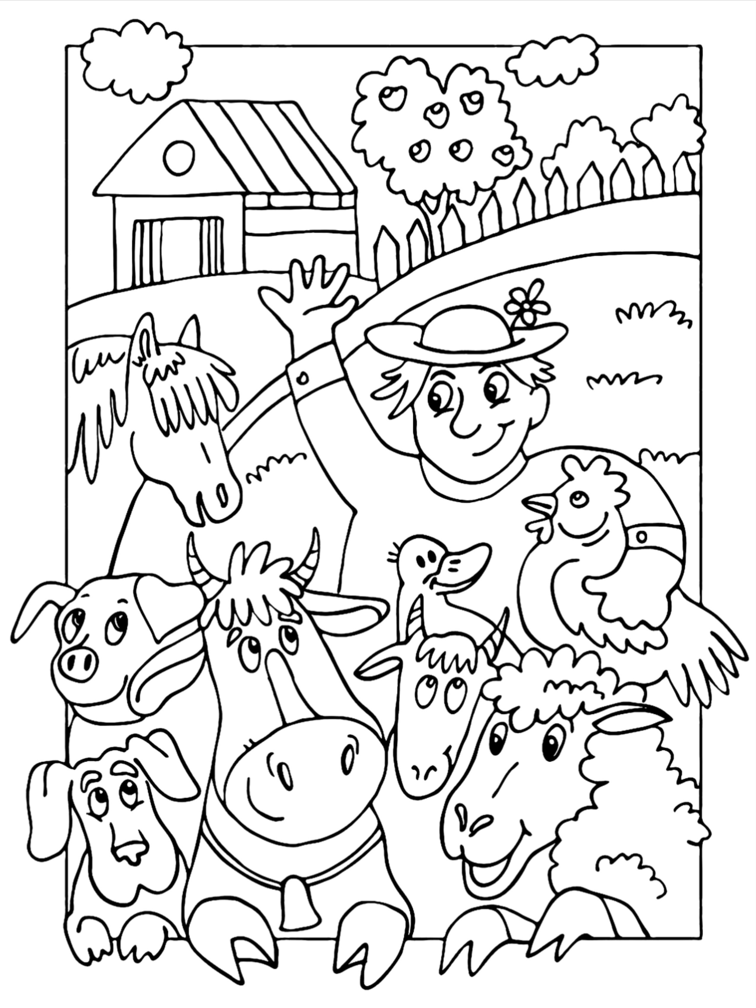 100 Animal Coloring Pages For Kids In 2021 Coloring Pages For Kids Animal Coloring Pages Coloring Pages [ 3400 x 2550 Pixel ]