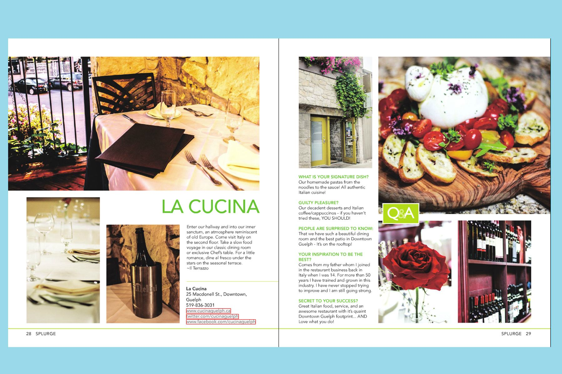 La Cucina Restaurant Guelph Ontario Go For A Fancy Dinner At La Cucina From Splurge 2013 Things To