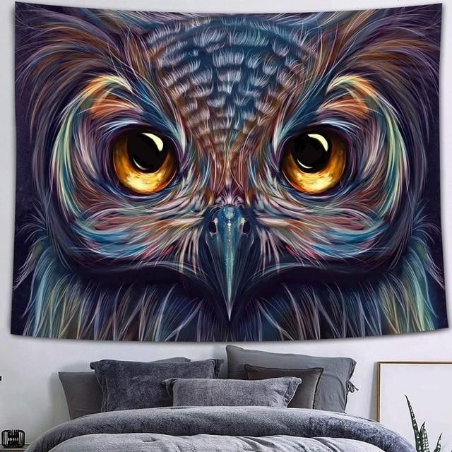 Photo of Simsant Viking Raven Tapestry Mysterious Viking Meditation Psychedelic Runes Art Wall Hanging Tapestries for Living Room Decor – 150x150cm / 2TGTQQAY99