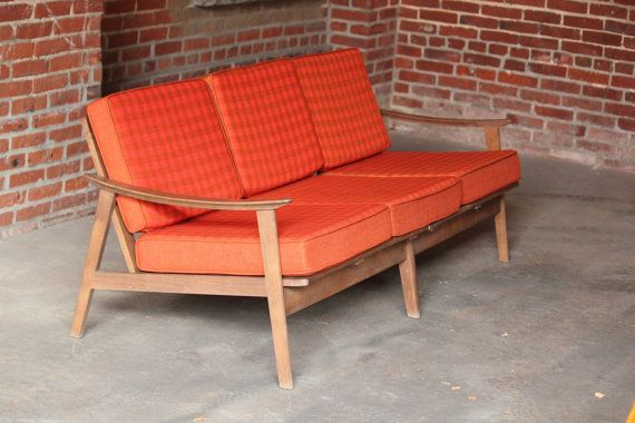 Mid Century Modern Danish Sofa Couch Yugoslavia By Nailedtogether