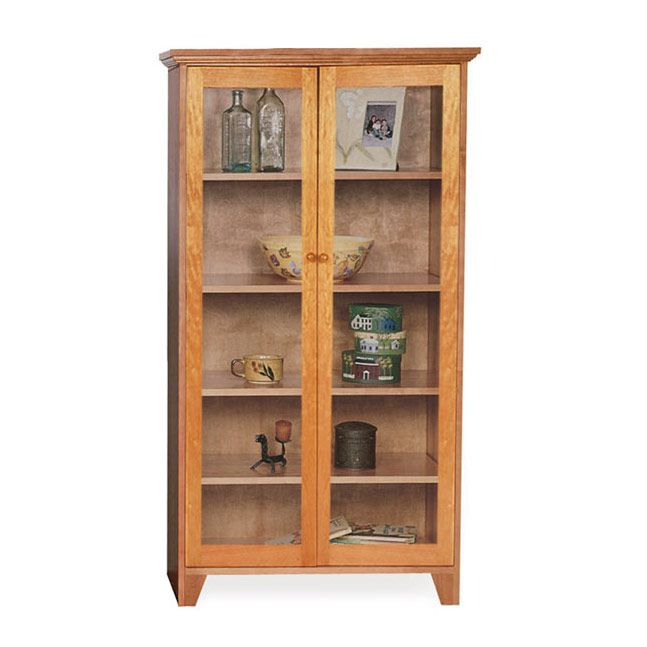 Beauty Of Modern Wood Bookcase With Glass Doors Bookcase With