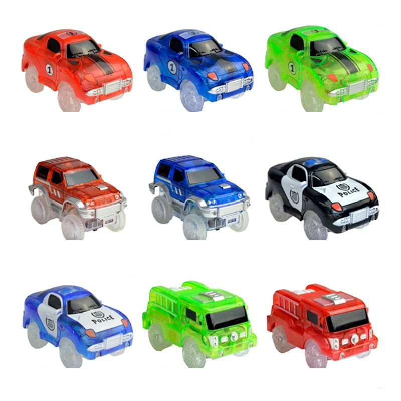 Party Favors 3 Led Lights Police Cars For Magic Golwing Track Electronics Car Toys With Flashing Lights Diy Magic Car Toy Cars For Kids Party Home & Garden