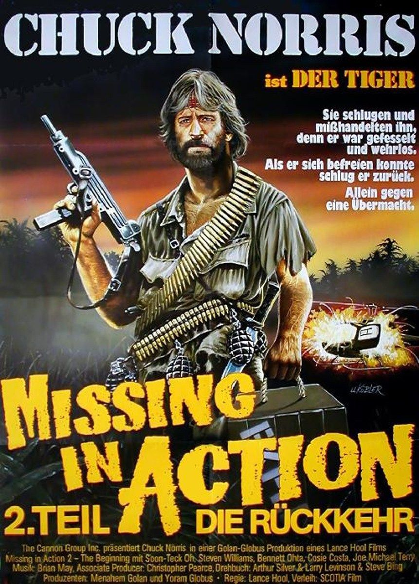 Missing in Action 2: The Beginning German poster (Lance Hool, 1985 ...
