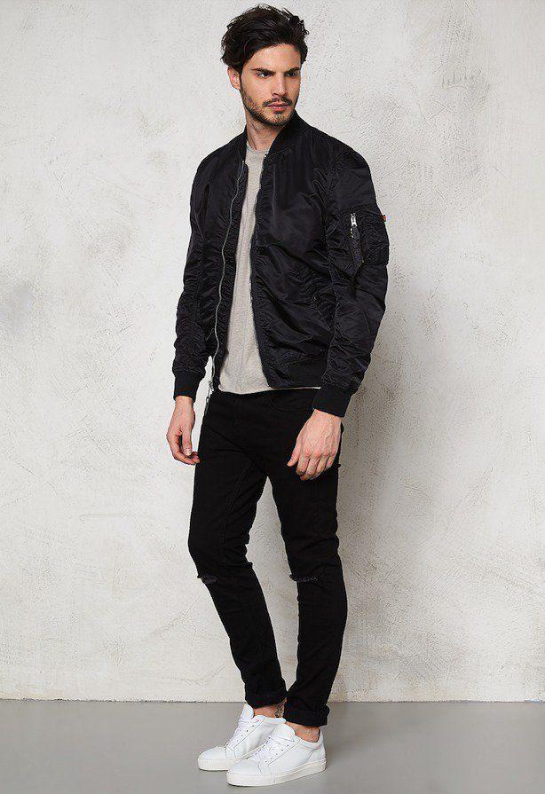 黒MA-1着こなしメンズ #men's #fashion #casual #style
