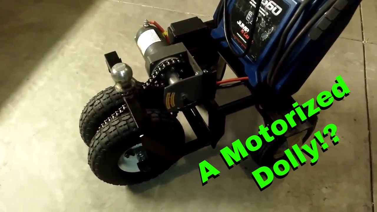 A Simple Diy Motorized Trailer Dolly Mule That You Can Make In Your Own Garage