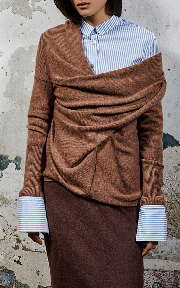 Draped Cashmere Sweater by Tuinch | Moda Operandi | M'O Fall ...