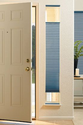 Hunter Douglas Door Coverings Sidelight Windows Front Doors With Blinds For