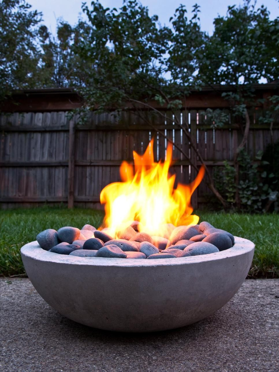 15 Patio Sized Fire Pits And Water Features Hgtv Backyard Fire