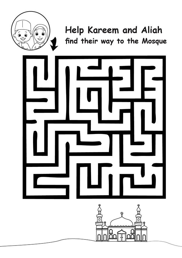 Ramadan Maze and Crossword Printable Activities (Dengan