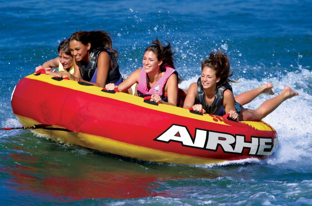 Airhead Slice 2 3 4 Person 60 100 Boat Deck Tubes Iboats Com Towable Tubes Boat Tubes Boat