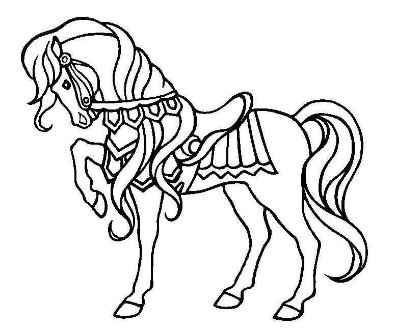 http://www.ademuz.nl/kleurplaten/dieren%20diverse/paard.jpg | Coloriage cheval, Coloriage cheval ...