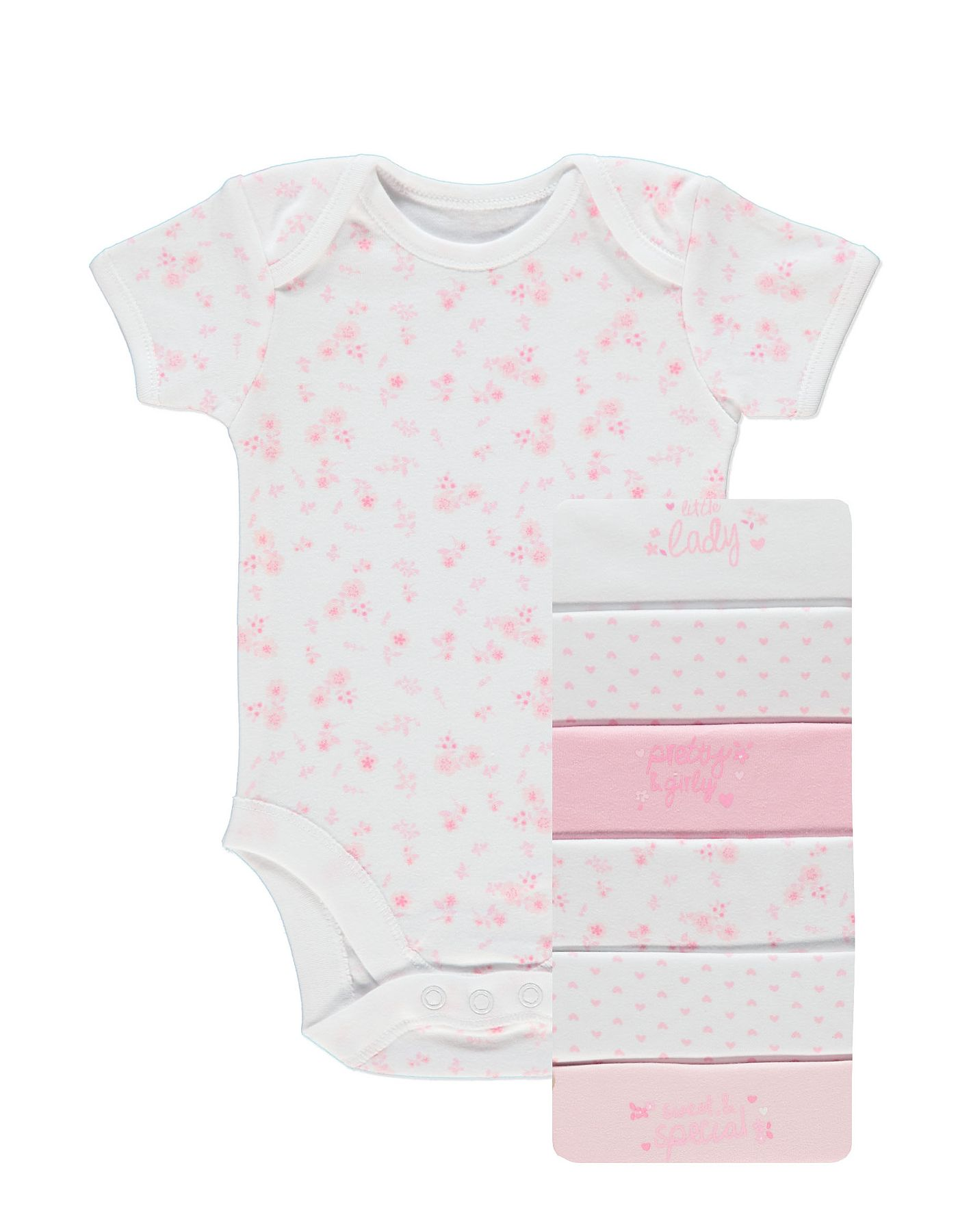 White apron asda - 7 Pack Short Sleeve Bodysuits Baby George At Asda
