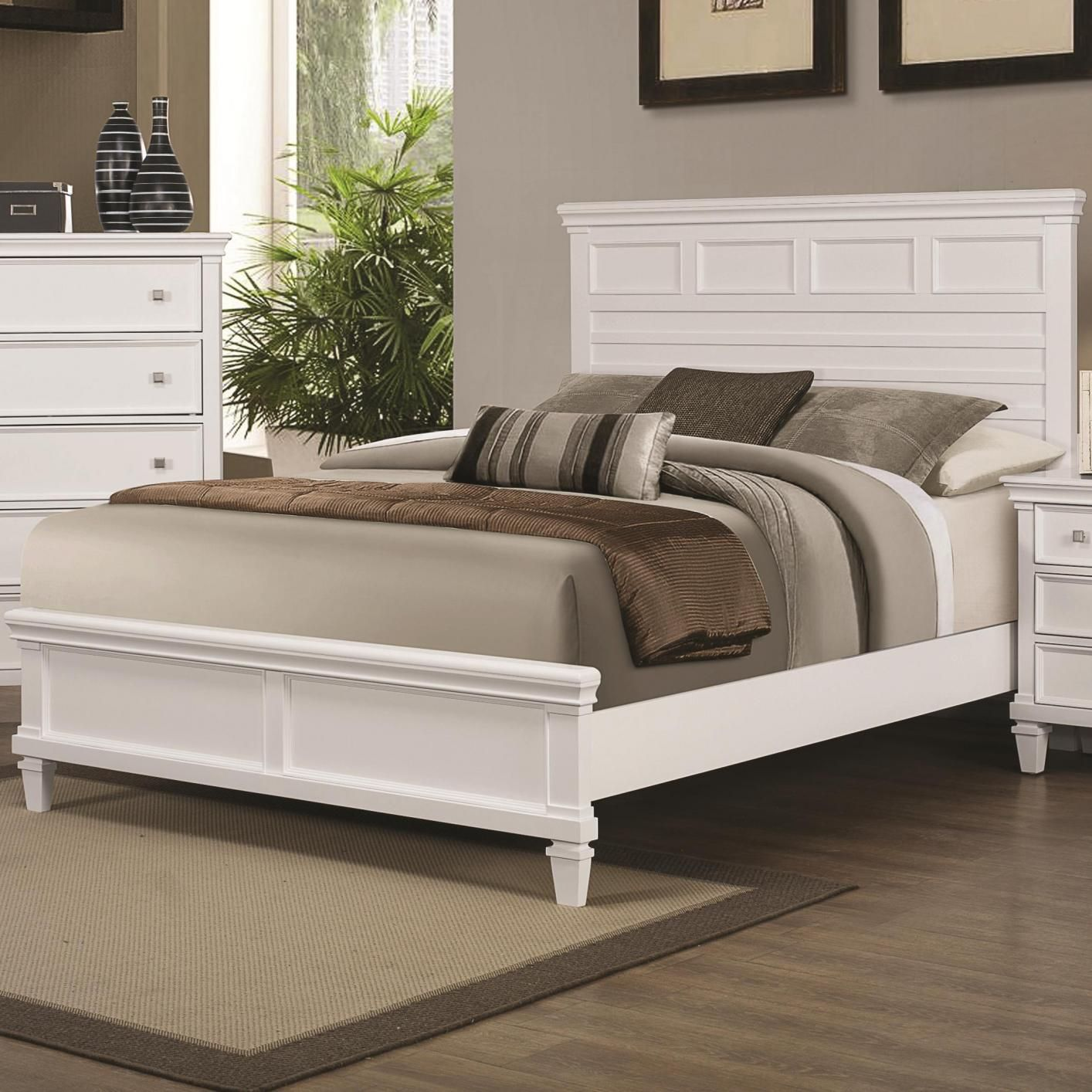 White Wood King Bed Unique bedroom furniture, Queen