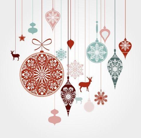 Free Hanging Christmas Holiday Ornaments Vector Titanui Christmas Stock Photos Christmas Background Christmas Vectors
