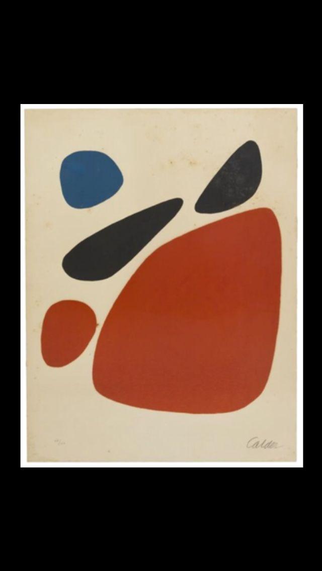 Alexander Calder Stones Lithograph 68 6 X 52 1 Cm With