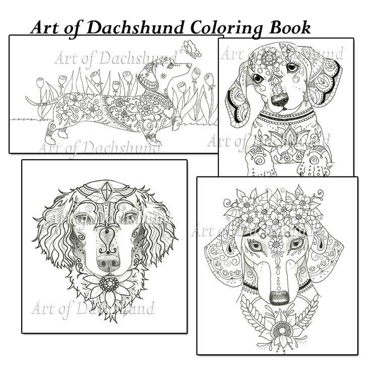 Art of Dachshund Color Book. FacebookArtByEddy www
