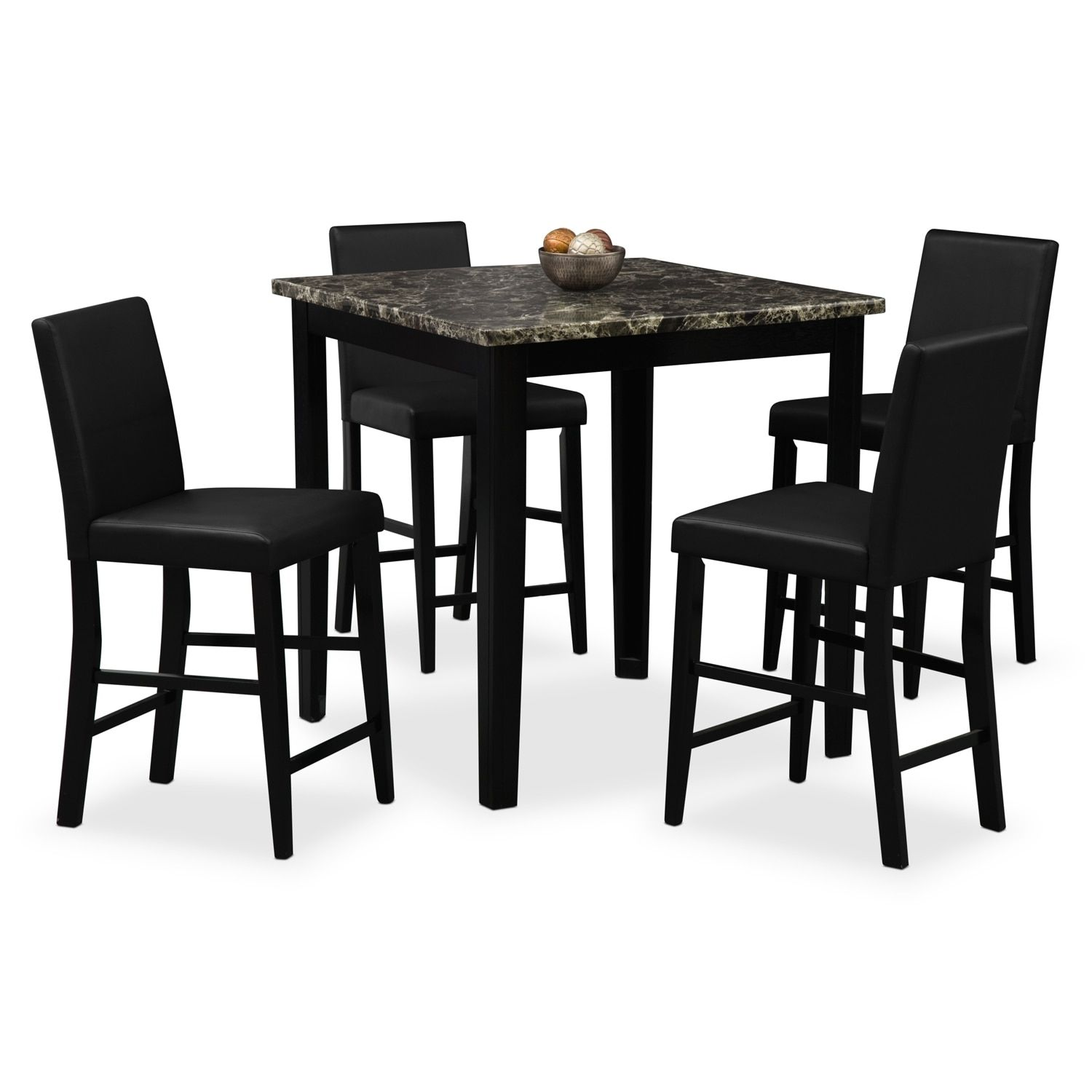 fd49bfcde5e2e Shadow Counter-Height Table And 4 Chairs - Black