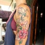 Pink Flowers Arm | Best tattoo ideas & designs