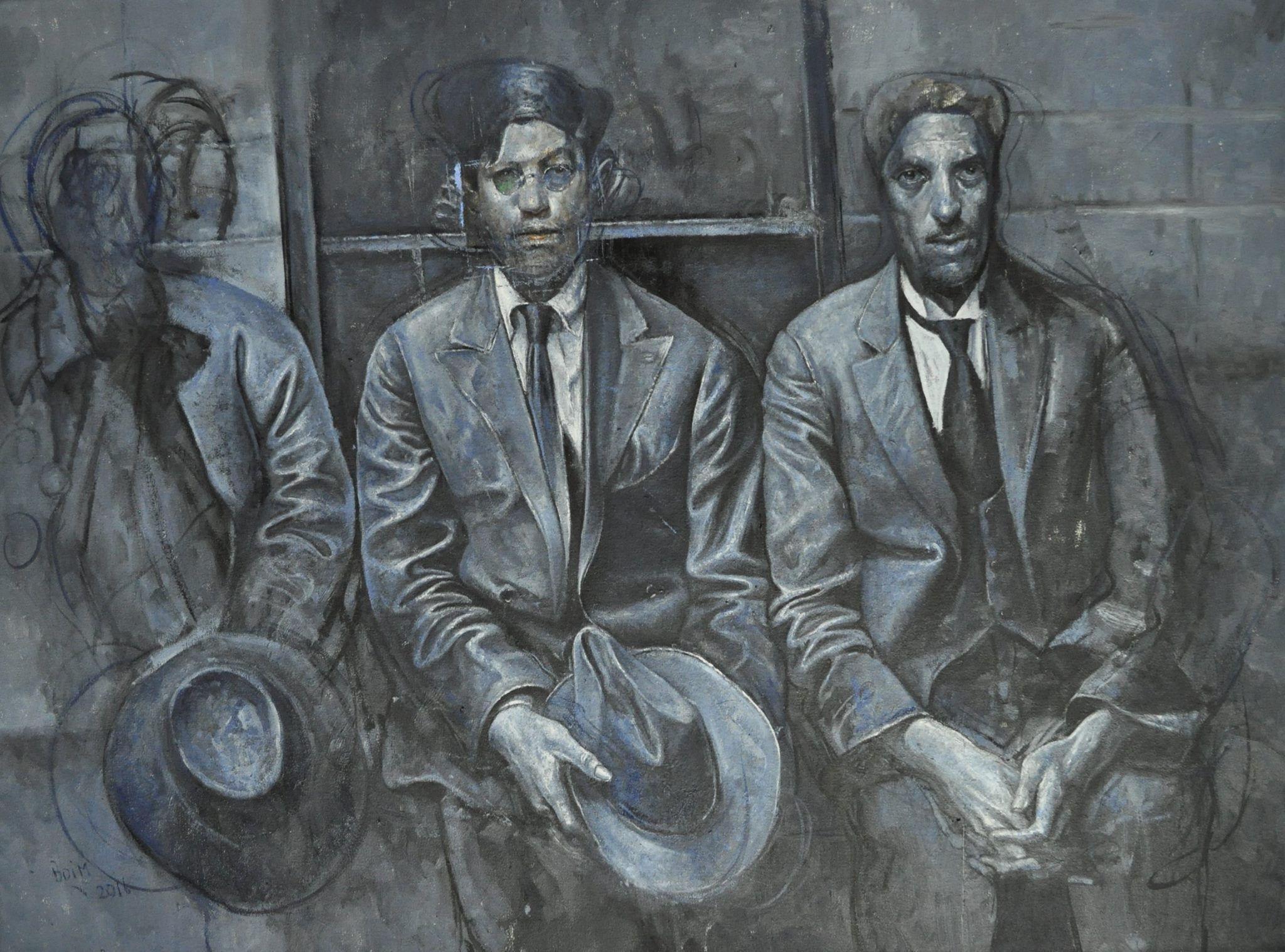 Los tres sabuesos pintura de Alejandro Boim