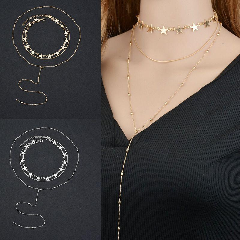 289441964fae Encontrar Más Collares de cadena Información acerca de Moda 3 capas larga  borla Collar para las