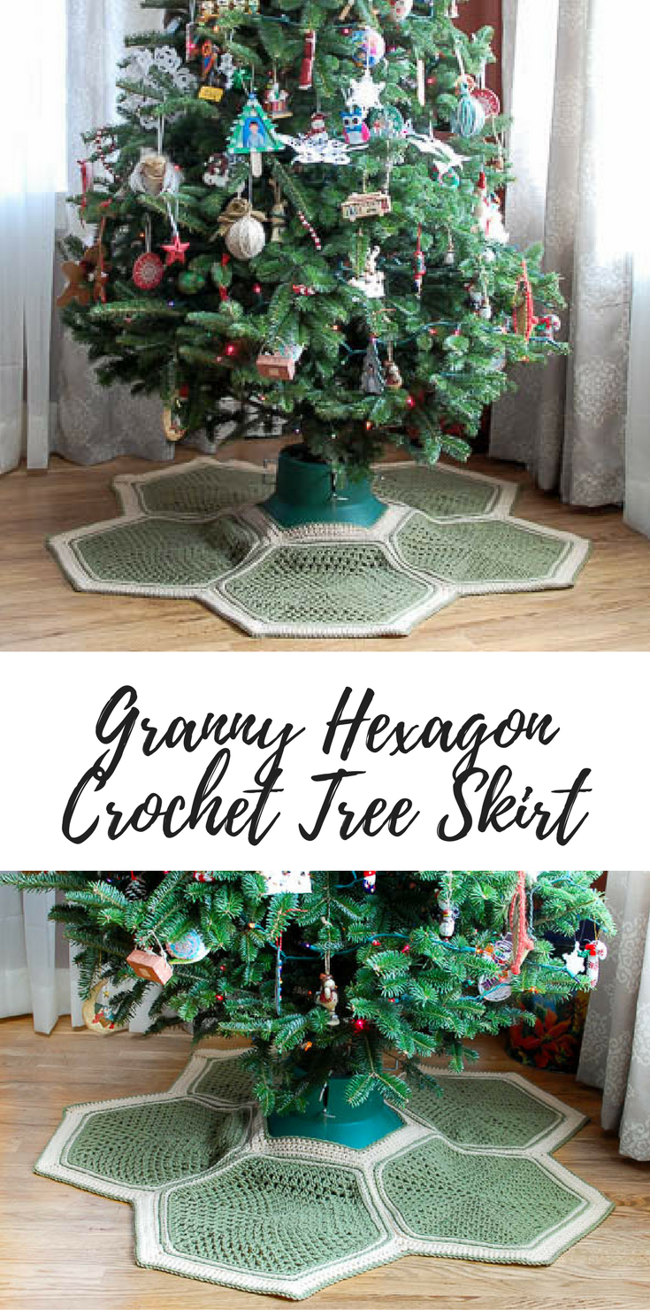Granny Hexagon Crochet Tree Skirt (free pattern) | ♥ Granny Crochet ...