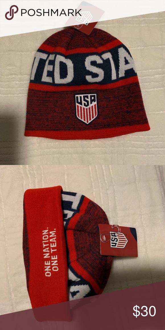 800f43151f2989 USA Beanie Brand New - USA 🇺🇸 Soccer Beanie Nike Accessories Hats ...