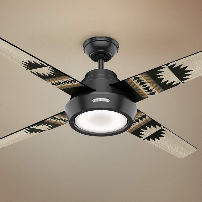 Matte Black Led Ceiling Fan
