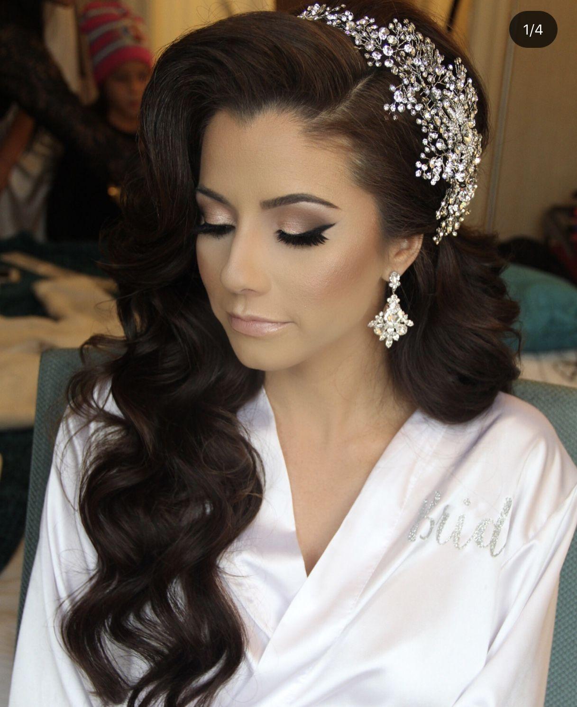 Pin By Desiree Lopez On Wedding Hair Ideas Wedding Hair Headband Wedding Hair Accessories Celebrity Wedding Hair
