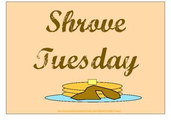 Shrove Tuesday Sign Freebie Shrove Tuesday Pancake Day Lent