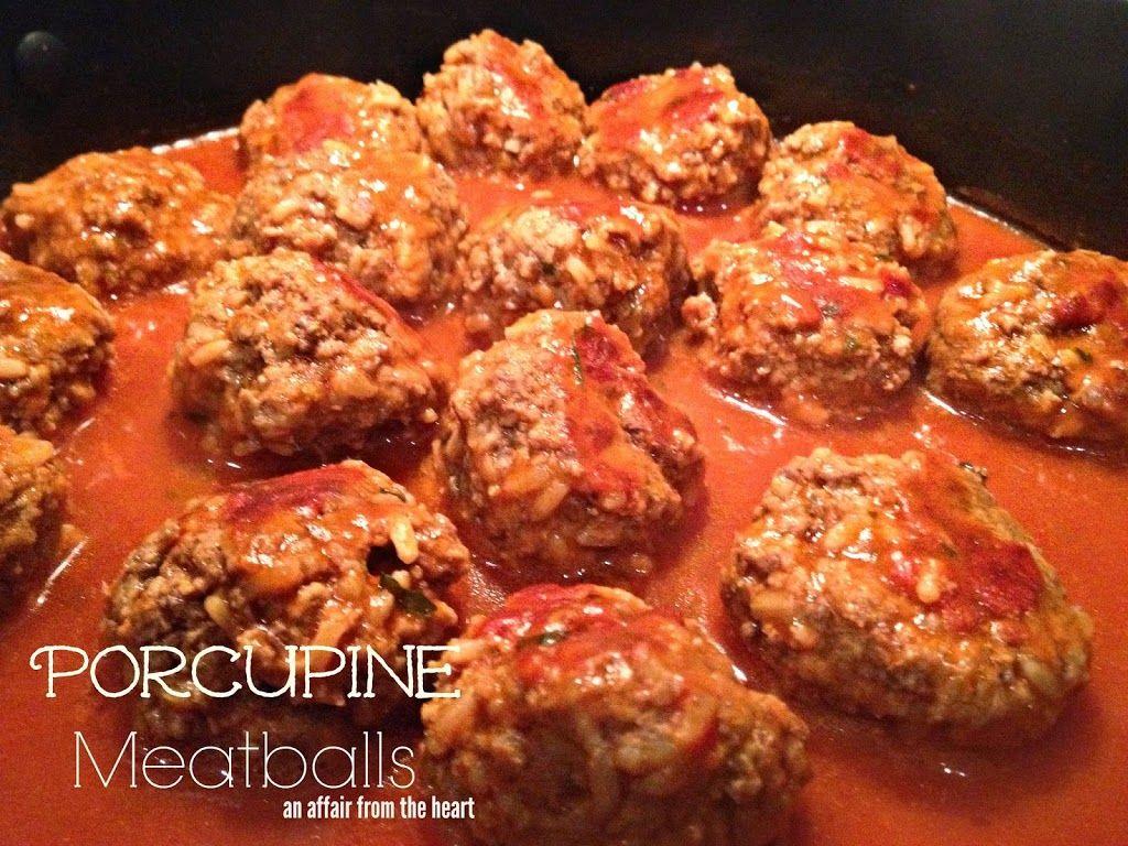Porcupine Meatballs   An Affair from the Heart