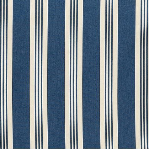 French Stripe Navy Easycare Fabric By The Yard Beach Style